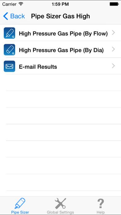 HVAC Pipe Sizer - Gas Plus iPhone Screenshot 5