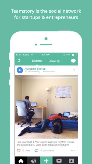 Teamstory - Social Network for Startups