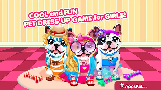 Fun Doggy Dress Up - Beauty Baby Pup Pets Salon And Hair Fashion For Girls Free Game
