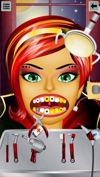 Monster Dentist: dental treatment of scary vampire and gargoyle