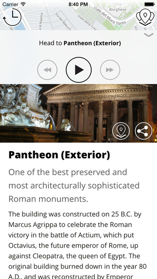 Rome Premium | JiTT.travel Audio City Guide & Tour Planner with Offline Maps Screenshots