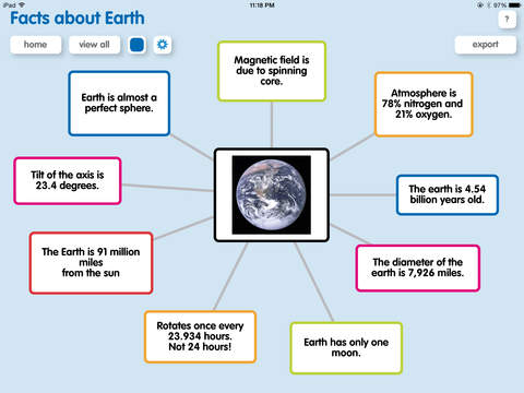 Popplet iPad Screenshot 1