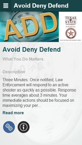 Avoid Deny Defend