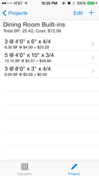 Board Feet Easy Calculator iPhone Screenshot 3