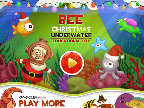 Bee Christmas Underwater