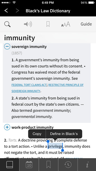 Black's Law Dictionary, 10th Edition Screenshots