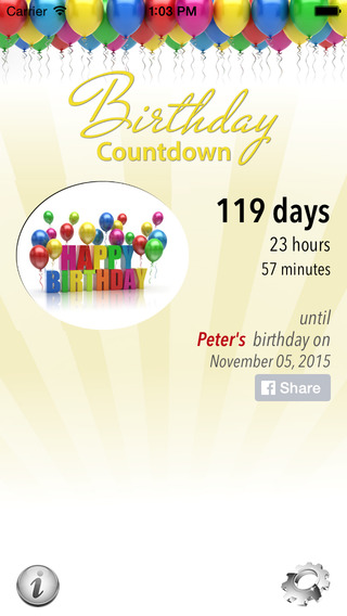 Free Birthday Countdown