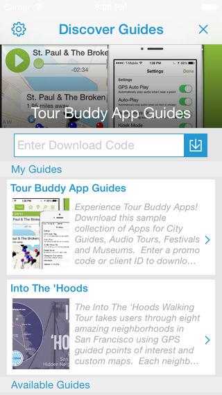 Tour Buddy App Guides