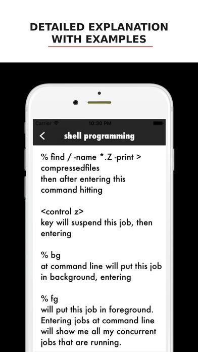 Unix/Linux CLI Commands iPhone Screenshot 3