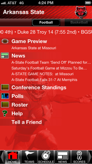 Arkansas State Red Wolves College SuperFans iPhone Screenshot 2