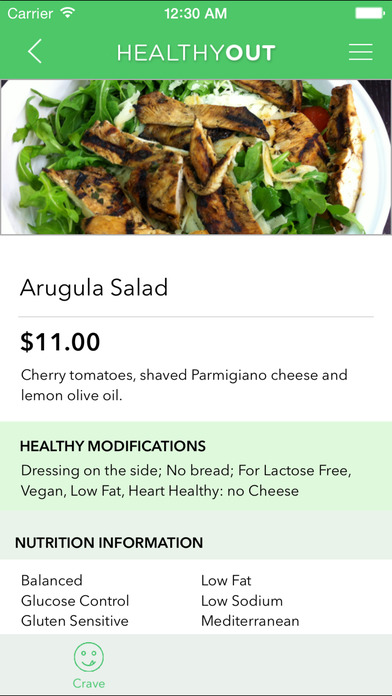 HealthyOut - Healthy Restaurant Nutrition Guide screenshot