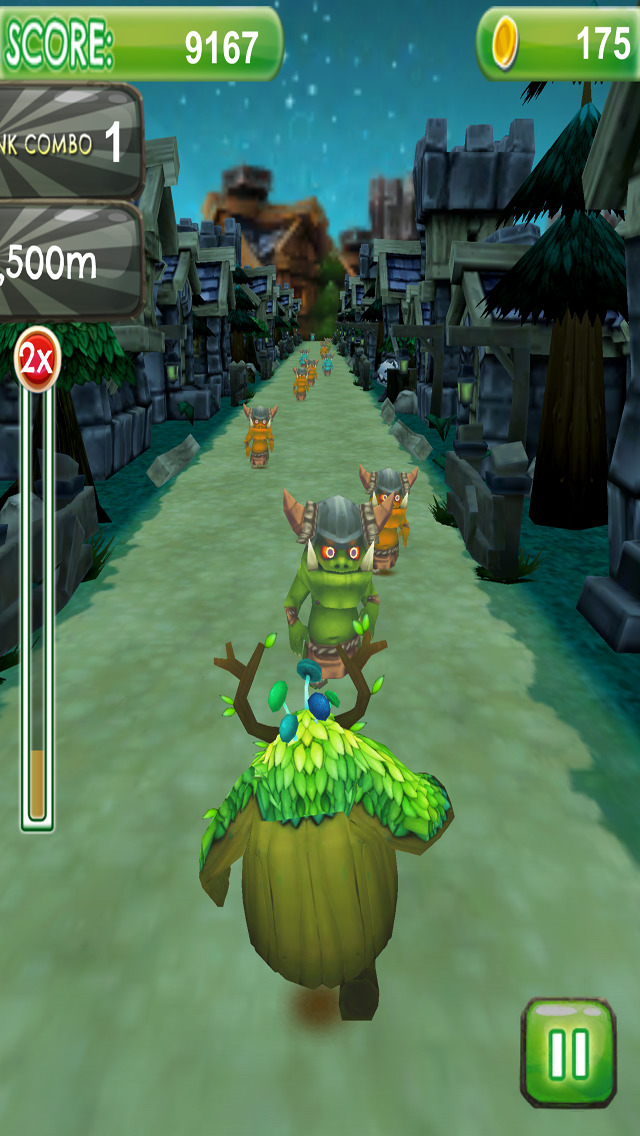 Kodame Dash Spirit Attack - PRO - Fantasy Green Dryad Endless Street Runner Game