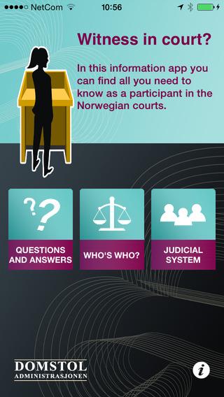 Witness in Court - Norwegian Court System