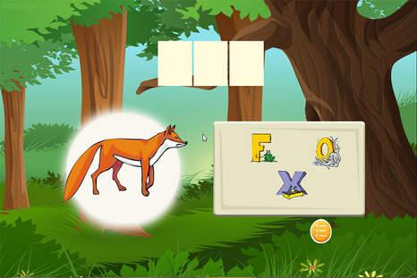 拼写单词野生动物动物是一个免费的拼字游戏的