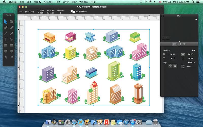 Bluetail for Mac 2.3 破解版 - 优秀的矢量绘图工具