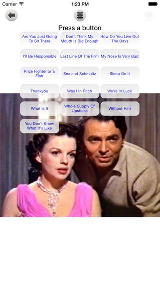Judy Garland Sound Board iPhone Screenshot 2