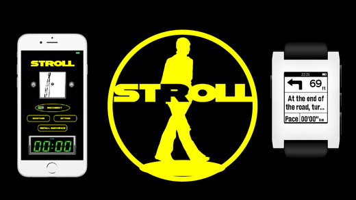 STROLL-Walking GPS Navigation and Pace Alert for Pebble Smartwatch