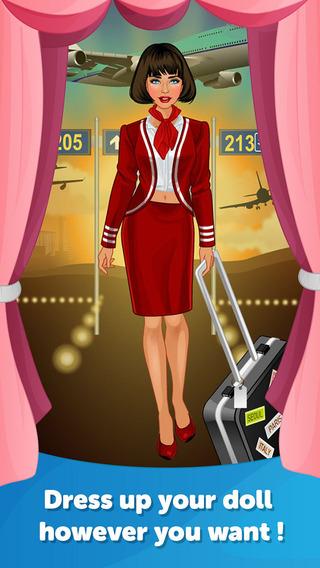 Air Hostess Dress Up - Fun Doll Makeover Game