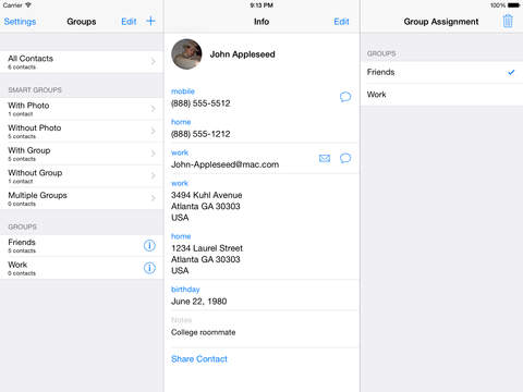 Address Book Plus iPad Screenshot 4