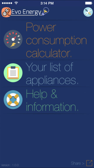 Evo Energy - Electricity Consumption Calculator Free.
