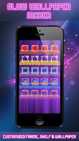 Glow App Backgrounds Home Screen Wallpaper Maker - Custom Wallpaper Icons Shelve Docks