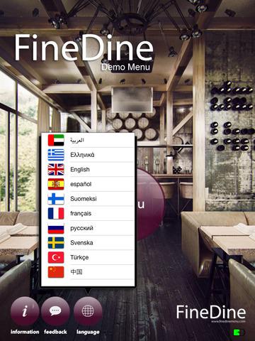 FineDine Tablet Restaurant Menu