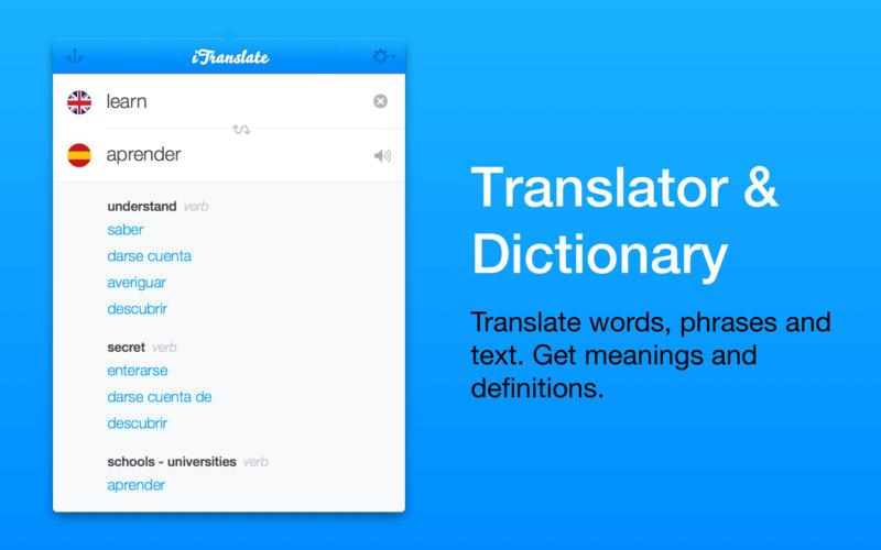 iTranslate - translator & dictionary Screenshots