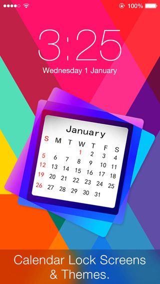 Calendar Lock Screens - Free Calendar Wallpapers Backgrounds and Themes for iPhone iPod and iPad