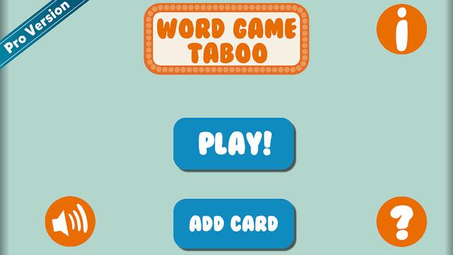 Word Game - Charades Taboo Like Edition