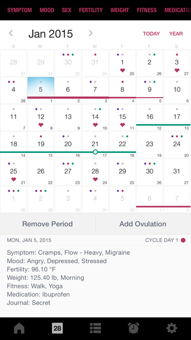 Life - Period Tracker, Menstrual Cycle Calendar, Ovulation & Fertility Diary for Women's Health screenshot