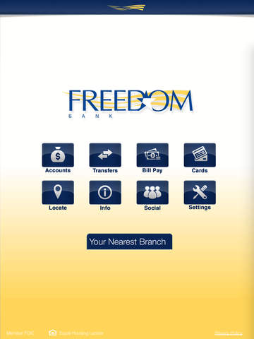 Freedom Bank Mobile for iPad