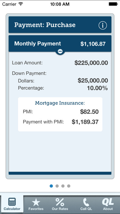 Mortgage Calculator by Quicken Loans screenshot