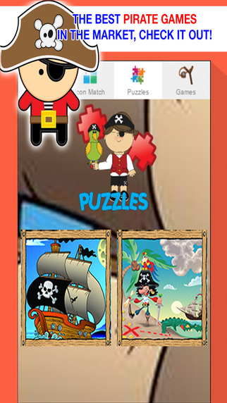 Mighty Pirate Ship Games for Kids - Jigsaw Puzzles and Sounds