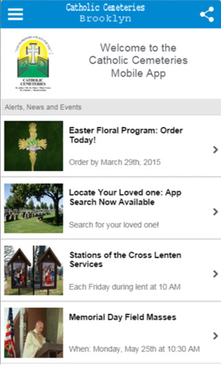 Catholic Cemeteries Mobile Application Diocese of Brooklyn