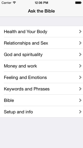 Ask the Bible iOS 7 Version