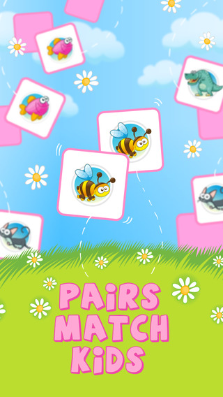 Pairs Match Kids Ads Free - Cute Game to Train Your Brain