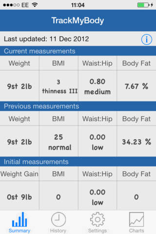 trackmybody lite body measurements app app screenshot