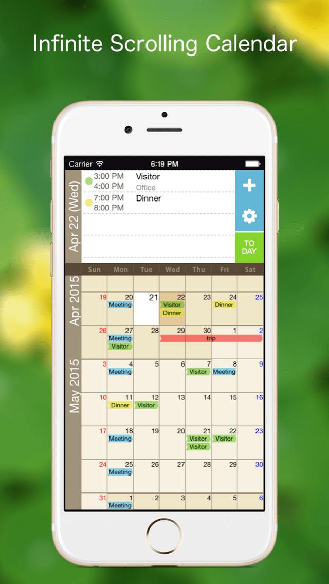 Monthly Calendar View Iphone : App shopper kurumaki calendar month scroll