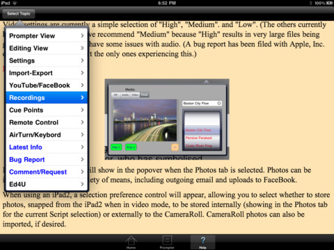 iQPrompter iPad Screenshot 3