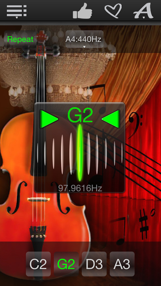 Easy Cello Tuner