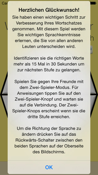 Vocabulary Trainer: German - Dutch iPhone Screenshot 5