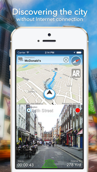 Moscow Offline Map + City Guide Navigator Attractions and Transports