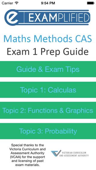 VCE Methods Exam 1 Guide