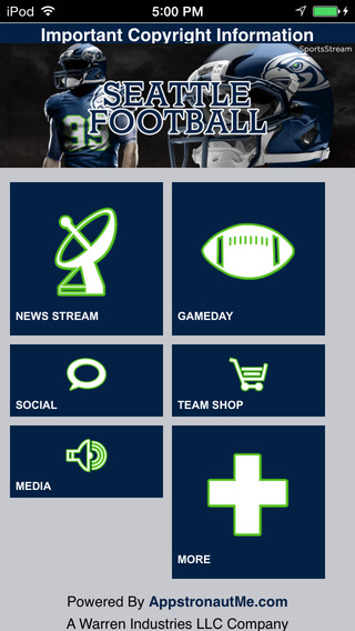 Football STREAM+ - Seattle Seahawks Edition