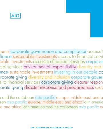 AIG Corporate Citizenship Report
