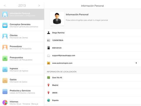 Autónomo iPad Screenshot 1