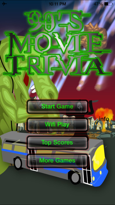 90's Movie Trivia iPhone Screenshot 1