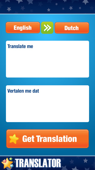 English to Dutch Translator.