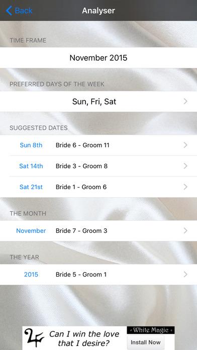 Wedding Date Numerology iPhone Screenshot 2