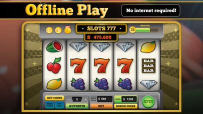 Screenshot 2 Slots 777™ — VEGAS CLASSIC – offline progressive slot machine with free coins feature & hourly bonus